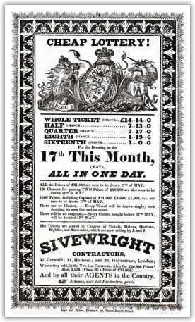 Lottery Handbill for J and J Sivewright Contractors