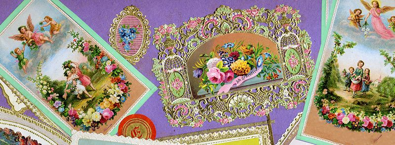Detail from Victorian scrap album page