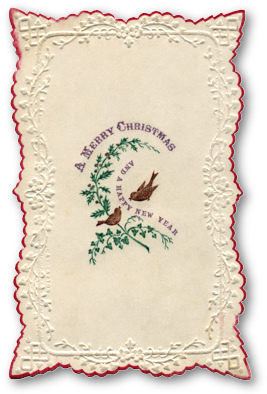 Early Victorian Christmas Card by C&E Laytonl