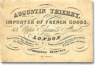 Trade card of Augustin Thierry