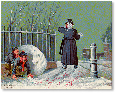 Victorian Christmas Card published by Birn Brothers, London