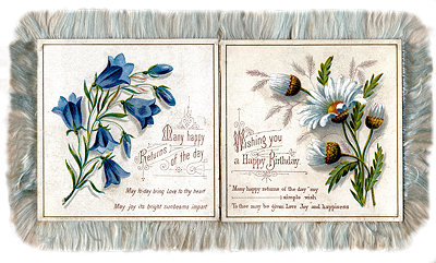 Image of silk edged birthday card
